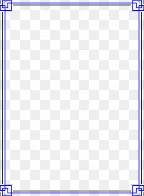 Blue Border Frame Photo - Line Angle Point Material PNG