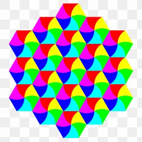 Swirly Images - Tessellation Hexagonal Tiling Triangle Clip Art PNG