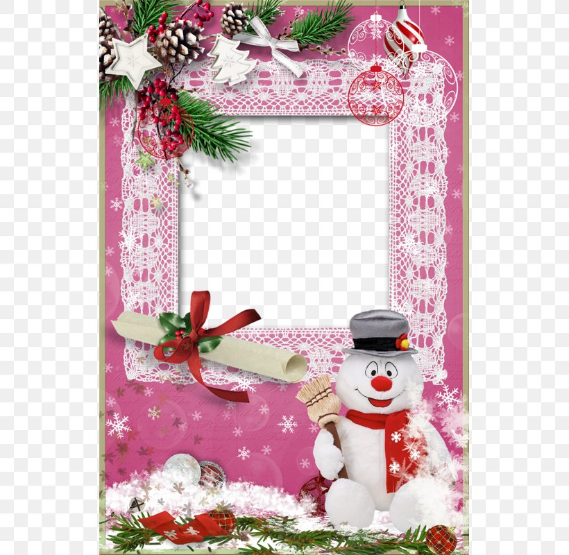 Christmas Ornament Santa Claus Pink, PNG, 533x800px, Christmas Ornament, Christmas, Christmas Decoration, Floral Design, Flower Download Free