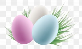 Transparent Easter Eggs And Grass Clipart Picture - Easter Bunny Easter Egg Clip Art PNG