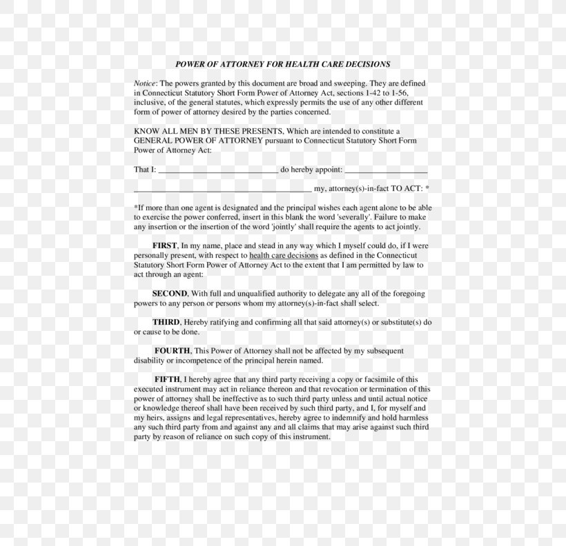 Medical Power Of Attorney Letter from img.favpng.com