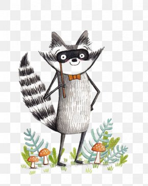 Cartoon Raccoon - Raccoon Coyote Cartoon Illustration PNG