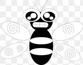 Bee Line Art - Bee Insect Line Art Clip Art PNG