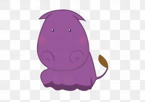 Lovely Hippo - Hippopotamus Cartoon Illustration PNG