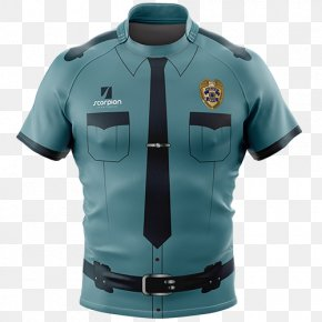 Police - T-shirt Rugby Shirt Sleeve Jersey PNG