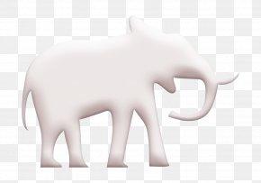 Blackandwhite Wildlife - Elephant Icon Endangered Icon PNG