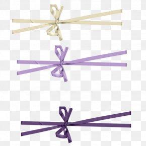 Ribbon - Ribbon Shoelace Knot Purple PNG