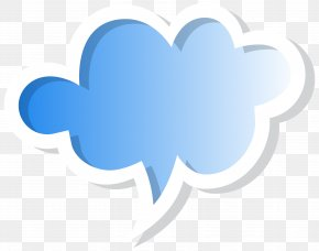 Speech Bubble Cloud Blue Clip Art Image - Speech Balloon Clip Art PNG