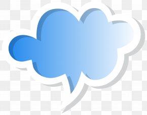 Speech Bubble Cloud Blue Clip Art Image - Speech Balloon Clip Art PNG