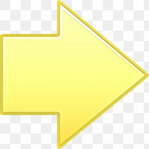 Paper Product Yellow - Arrow PNG