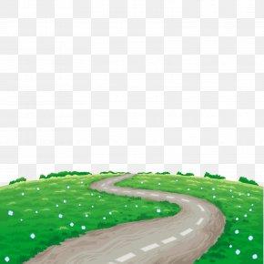 Vector Spring Road - Landscape Illustration PNG