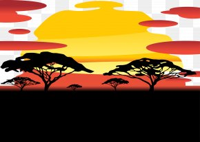 Sky Sunset Vector PNG