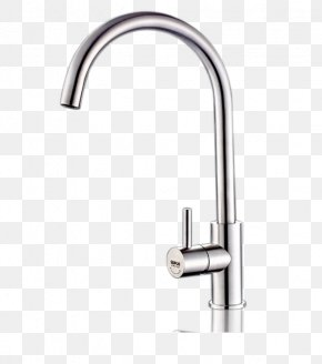 Classic Stainless Steel Kitchen Faucet Hot And Cold - Tap Kitchen Valve Sink PNG