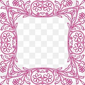 Flower Border - Picture Frame Paper Ornament Clip Art PNG