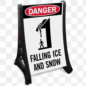Snow Sign - Traffic Sign Warning Sign Car Park Danger Falling Ice PNG