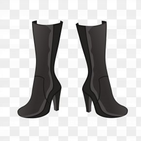 High-heeled Boots - Riding Boot Shoe High-heeled Footwear PNG