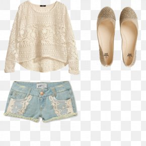 Fresh Women - Sleeve Ballet Flat Clothing Shorts Shoe PNG