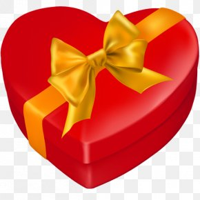 Gift Box - Heart Gift Decorative Box PNG