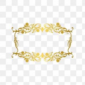 Gold Pattern Frame - Picture Frame Gold PNG