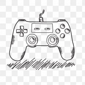 Vector Gamepad - Xbox 360 Controller Game Controller PlayStation 4 Drawing Video Game PNG