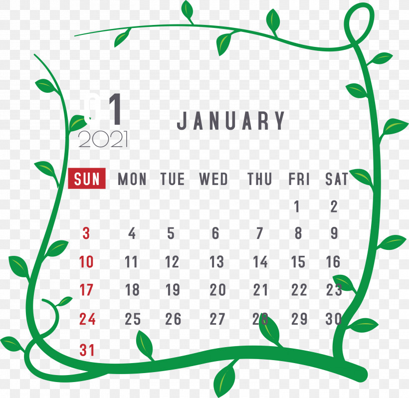 January 2021 Printable Calendar January Calendar, PNG, 3000x2920px, 2021 Calendar, January, Body, Event, January Calendar Download Free