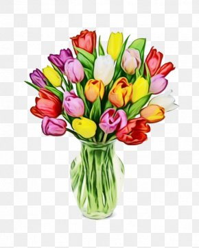 Plant Stem Flower Arranging - Bouquet Of Flowers Drawing PNG