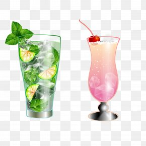 Lemon Sorbet - Cocktail Mai Tai Singapore Sling Italian Soda PNG