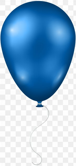 Blue Balloon Transparent Clip Art Image - Blue Sky Balloon Sphere PNG