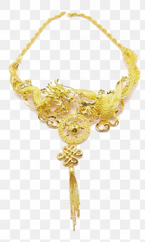 Dragon Exquisite Gold Necklace - Gold Plating Silver Jewellery Platinum PNG
