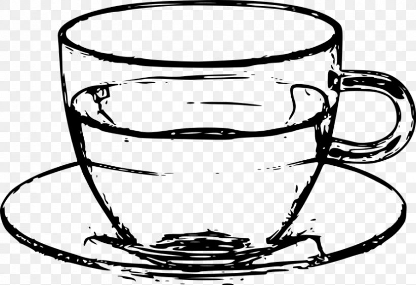 Saucer Coffee Cup Teacup Clip Art Png 830x569px Saucer Artwork Black And White Coffee Cup Cookware