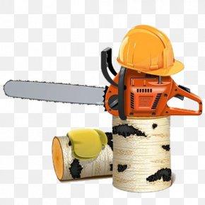 Chainsaw Helmet - Chainsaw Firewood Stock Photography Stock Illustration PNG