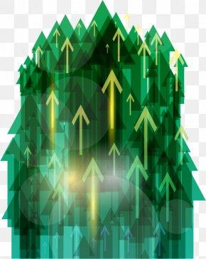 Green Group Dynamic Arrow Vector Material - Green Arrow PNG