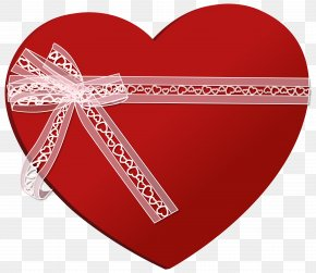 Heart With Heart Ribbon Clip Art Image - Ribbon Heart Clip Art PNG