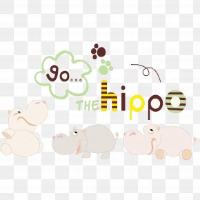 Vector Cartoon Hippo - Hippopotamus Cartoon Illustration PNG