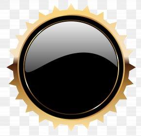 Black Seal Badge Template Clipart Image - Web Button Clip Art PNG