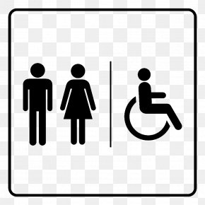 Simple Toilet Sign PNG