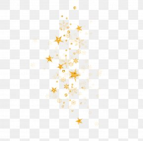 Golden Stars Floating Material - Star Euclidean Vector Icon PNG