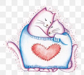 Mother Cat And Cat Son - Love Child Maternal Bond Mother Illustration PNG