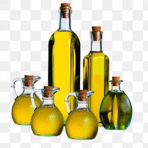 Glass Bottles Of Vegetable Oil Olive Oil - Olive Oil Truffle Oil Food PNG