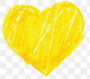 Yellow Heart Pic - Yellow Website Clip Art PNG
