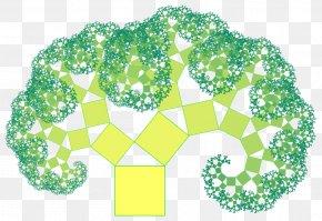 Summer Element Collection Summer - Pythagoras Tree Pythagorean Theorem Fractal Circle PNG
