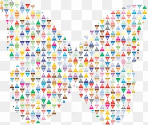 Colourful Triangles Number - Butterfly Net Insect Clip Art PNG