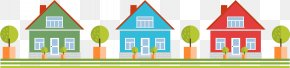 Colorful Cartoon Cabin - Property Elevation Illustration PNG