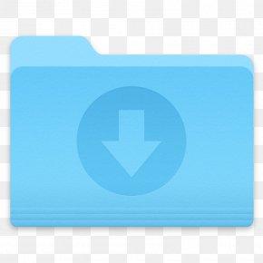 Folder - Blue Aqua Azure Turquoise Teal PNG