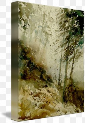 Watercolor Painting Landscape - Watercolor Painting Gallery Wrap Canvas Art PNG
