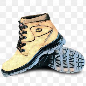 Hiking Boot Plimsoll Shoe - Footwear Shoe Yellow Boot Sneakers PNG