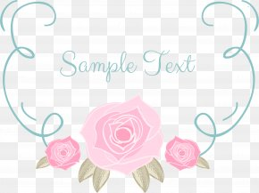Romantic Pink Hand Painted Roses Text Box PNG