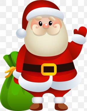 Cartoon Santa Claus - Santa Claus Rudolph Christmas Gift Clip Art PNG