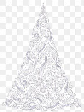 Christmas Tree - Christmas Tree Drawing Black And White Visual Arts PNG