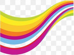 Color Stripe Creative Wave - Color Yellow Blue PNG